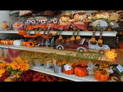 Family Dollar Fall Decor 2019!