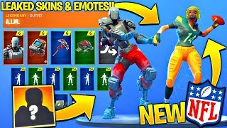 All Leaked Fortnite Skins & Emotes..! (Touchdown Emote, Hunting Party, NFL Referee & Skin, Spike It)