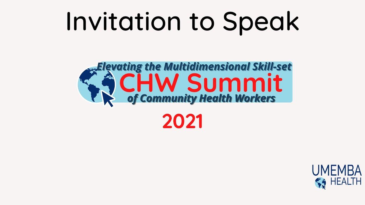 Invitation to Speak: 2021 Virtual CHW Summit