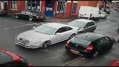 10 people in car hit and run audi in Bradford -