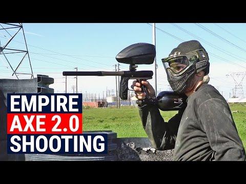 Empire Axe 2.0 Shooting with GI Sportz LVL and Ninja 77 SL