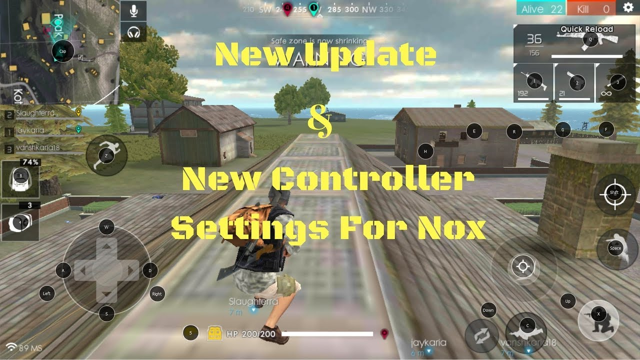 How To Play Free Fire Battlegrounds On Pc Keyboard Mouse With Nox Android Emulator 2018 Win78110