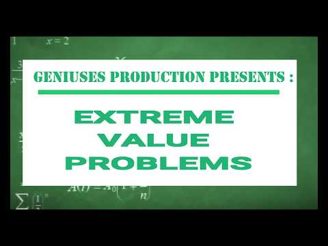 Mathematics Project - Extremum Value Problem ( Example and Solution)