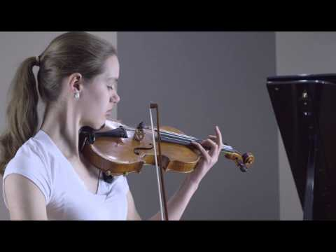 "Sarah Switzer - Tchaikovsky: ""Canzonetta"" Andante (2nd mvt) from Violin Concerto in D major"