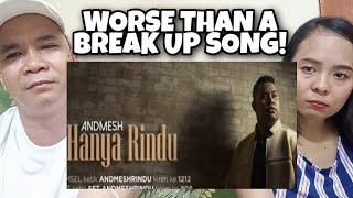 HANYA RINDU 🇮🇩 ANDMESH [TOUCHING SONG] REACTION,  TIN AND FRANZ REACTION lagu galau,last child,music