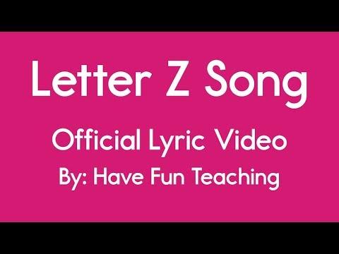 Letter Z Song Alphabet Song Lyrics