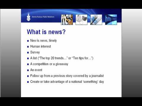 Generate media coverage for your business