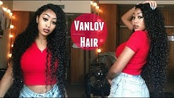 INEXPENSIVE VIRGIN CURLY HAIR | Vanlov Hair Mall Water Curly Review (BOMB!!)