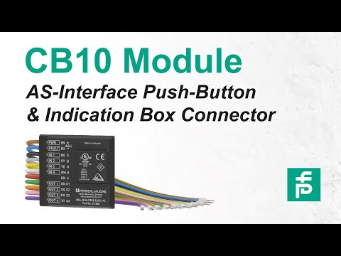 CB10—Connect Push Button and Indication Boxes to AS-Interface