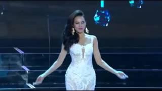 Lệ Quyên tự tin tại bán kết Hoa hậu Hòa bình Quốc tế