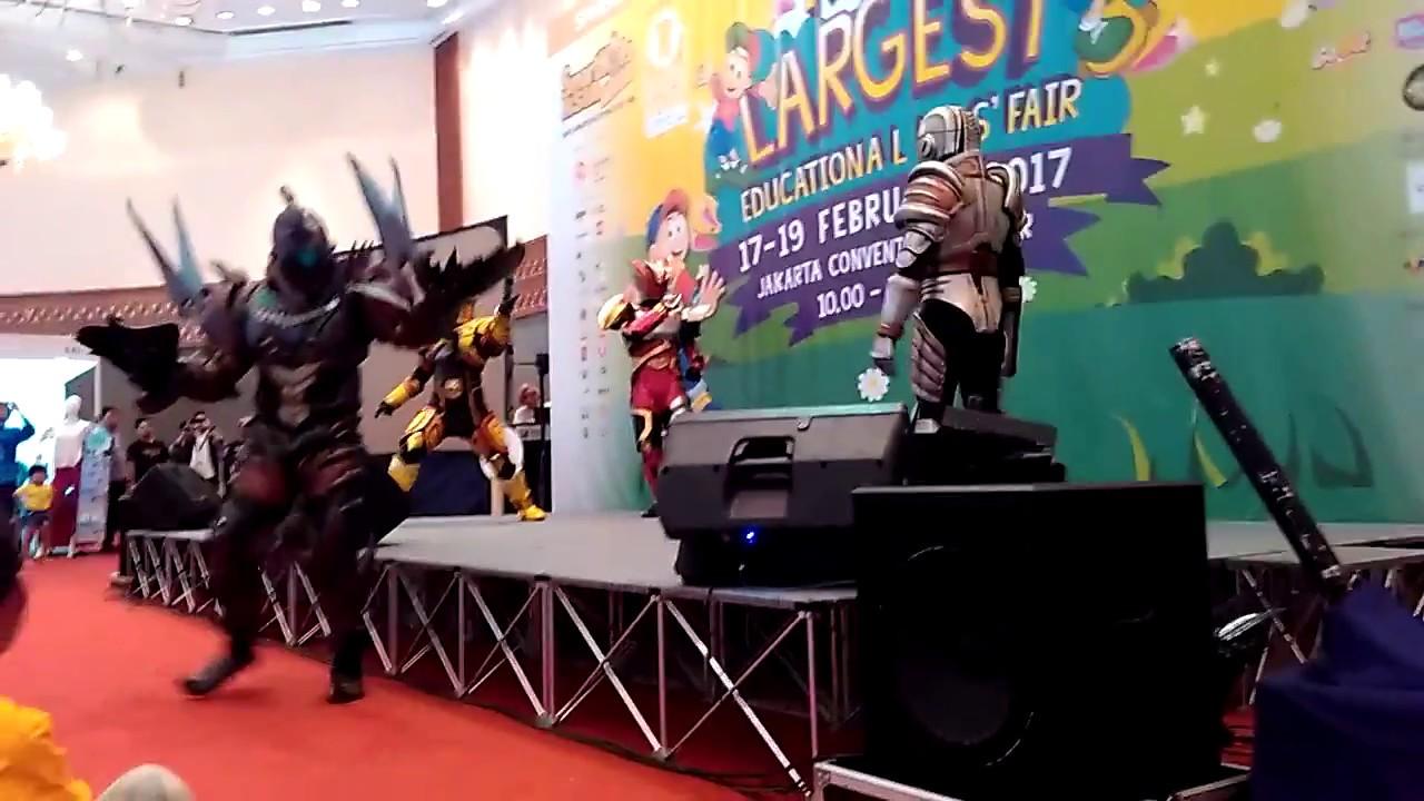 "Satria Heroes Bima x live action show full ""gre "" di JCC Senayan Jakarya 19 feb 2017"