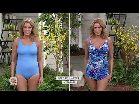 d68e2095d4 DreamShaper by Miraclesuit Caitlin Ruched Halter Swimsuit on QVC by ...