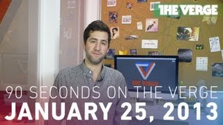HTC Mini, Apple cuts suppliers, and more - 90 Seconds on The Verge_ Friday, January 25th, 2013