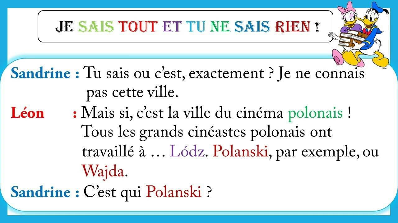 Dialogue facile en français 10 - YouTube