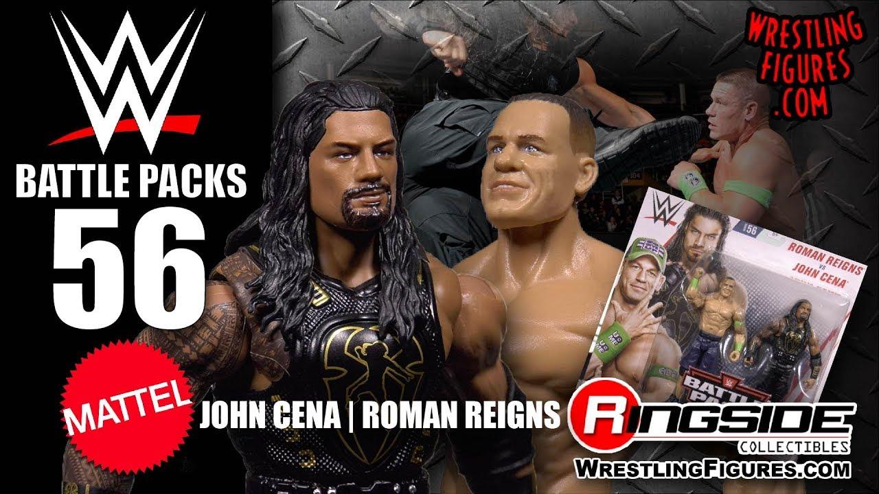 John Cena Roman Reigns Wwe Battle Packs 56 Wwe Toy