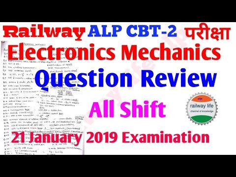 Electronics mechanics Question & Answer Alp cbt-2 21 January 2019 All shift