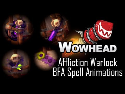 Affliction Warlock New Spell Animations - Battle For Azeroth
