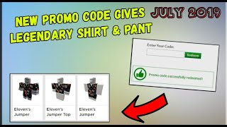 NEW ROBLOX PROMO CODE / JULY 2019 - BEST FREE ITEM 😨
