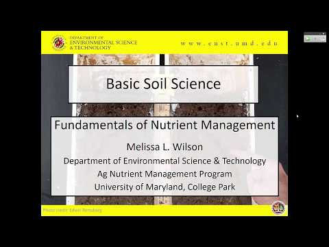 Basic Soil Science - Fundamentals of Nutrient Management 2017