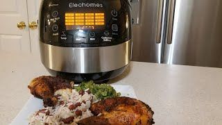 Elechomes Rice Cooker 16in1 10 cup Multicooker CR502 First Look Review Rice + Steam
