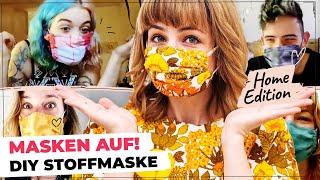 Behelfs-Maske selber machen | DIY Maske nähen #MaskeZeigen