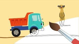 Грузовичок Бибика и Животные Африки - Мультик Раскраска с Бибикой