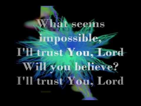 I Trust You Lord - Donnie McClurkin