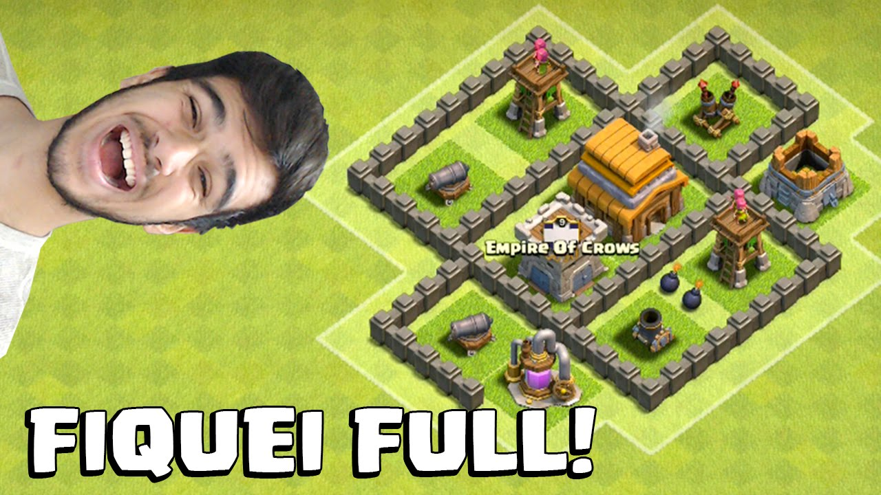 deixando o cv 4 full   come u00c7ando no clash of clans  7