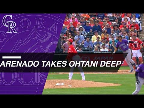 Nolan Arenado Crushes Three-Run Homer Off Shohei Ohtani