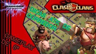 Clash of Clans DICAS- ATK DE CORREDOR EM LAYOUT ABERTO