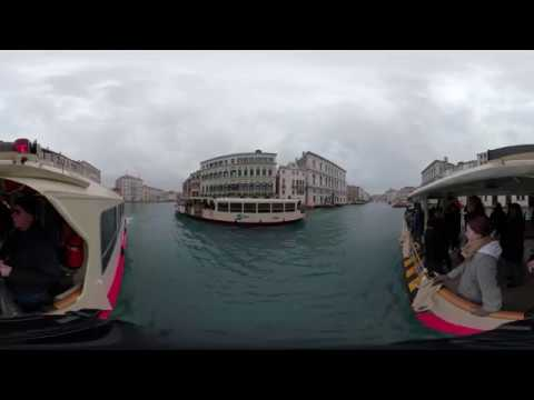360 video on the Grand Canal Venice,  Italy December 27th 2017