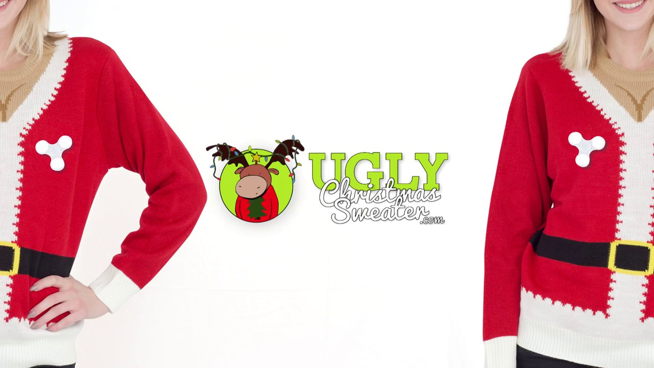 Fidget Spinner Santa Suit Ugly Christmas Sweater - YouTube