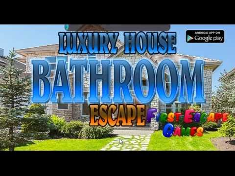 Escape The Bathroom Game Solution luxury house bathroom escape walkthrough - firstescapegames - youtube