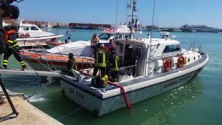 Esercitazione al porto con Guardia costiera e Vigili del fuoco