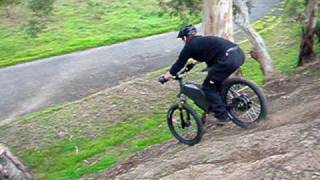 Stealth Fighter Electric Bike riding down 7m slope - www.stealthelectricbikes.com