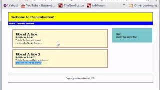 HTML5 Tutorial - 13 - Finishing the Layout