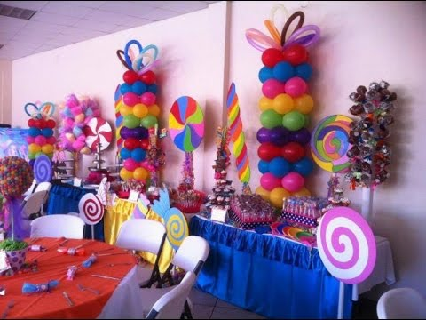 Como hacer adornos para fiestas infantiles youtube for Decoracion salon infantil