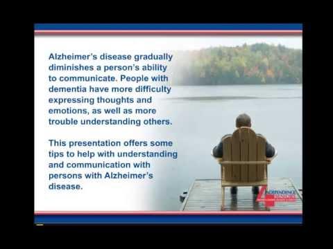 communication tips for alzheimer 39 s disease youtube. Black Bedroom Furniture Sets. Home Design Ideas