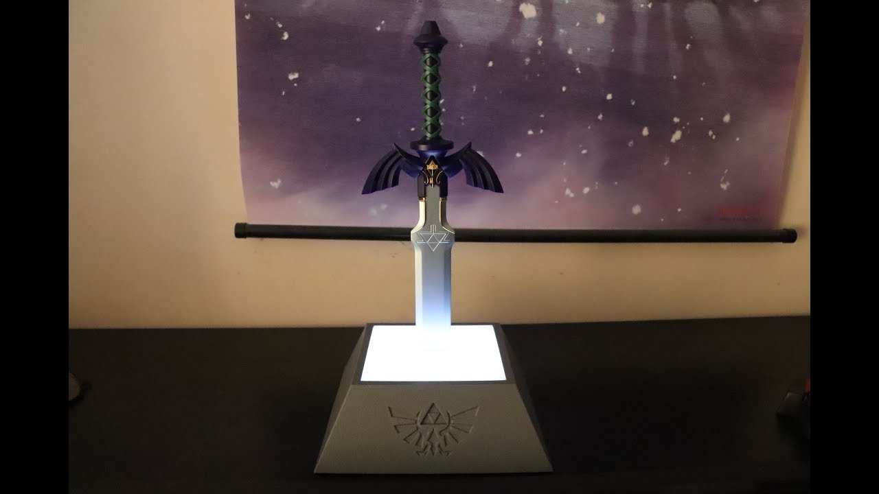 The Legend Of Zelda Master Sword Lamp Unboxing