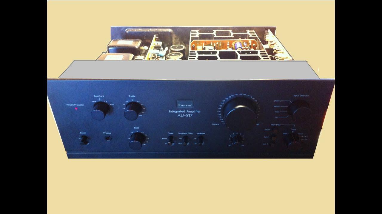 Sansui Au 517 Repair Phono Amp Pop Noise Youtube