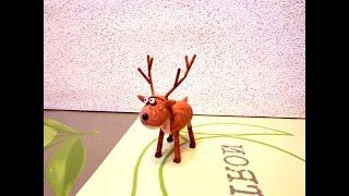 видео Как сделать новогоднего оленя своими руками?
