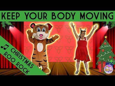 Christmas Songs   Kids Dance Along   Christmas Roo Rock by Pevan and Sarah   Brain Break