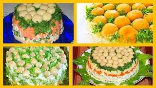 Новогоднее меню-салат Грибная поляна