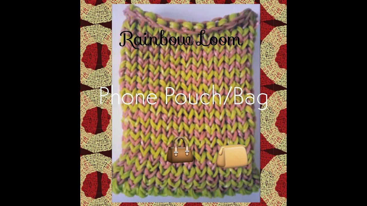 47f3475ffa Rainbow Loom - Phone Bag Pouch - YouTube