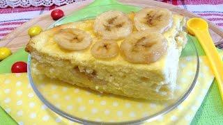 Творожная запеканка с бананом (Curd pudding with banana)