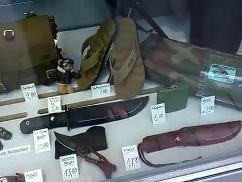 Ганновер. Магазин  военного  снаряжения .