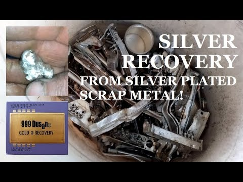 SILVER RECOVERY from silver plated scrap metal!