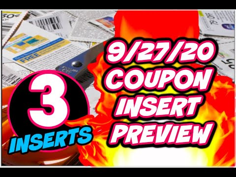 9/27/20 COUPON INSERT PREVIEW | 3 INSERTS THIS WEEK!  👀