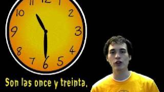 Learn Spanish - ¿Qué hora es? (telling time) part 1