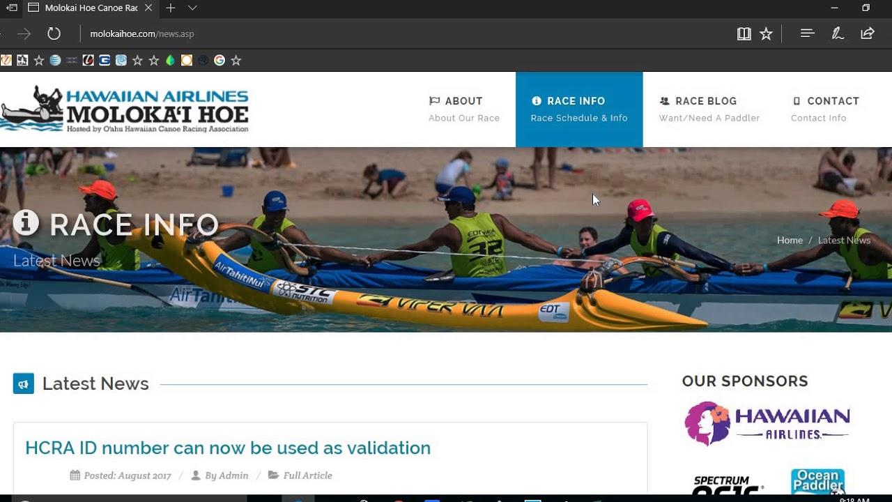 Molokai Hoe Canoe Race